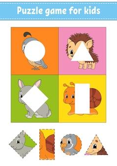 Gra logiczna dla dzieci. wytnij i wklej.