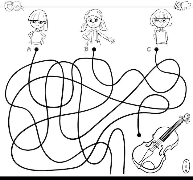 Gra logiczna dla linii lub labiryntu dla dzieci