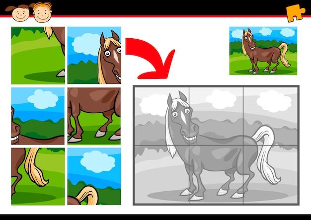 Gra logiczna koń kreskówka