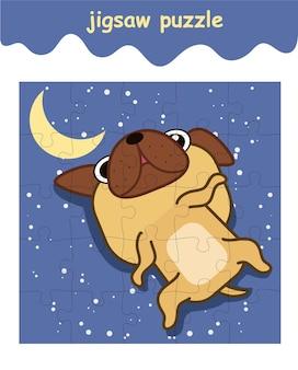 Gra logiczna, w której śpi pies mops