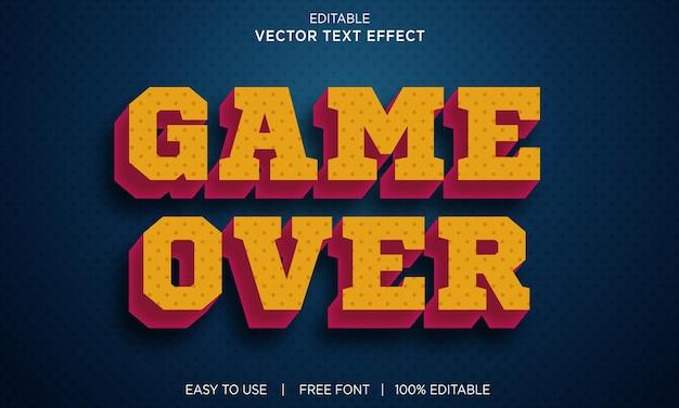 Gra nad edytowalnym efektem tekstowym z wektorem premium