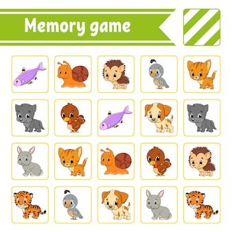 Gra pamięciowa dla dzieci.