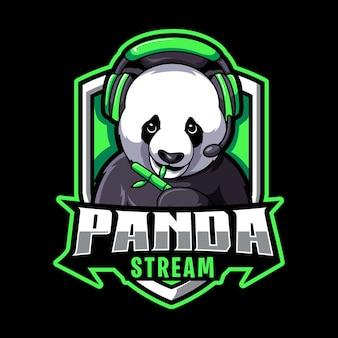 Gra panda, logo maskotki