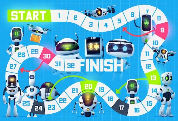 Gra planszowa dla dzieci, roboty, droidy i drony-boty