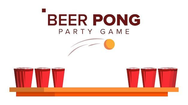 Gra pong piwa