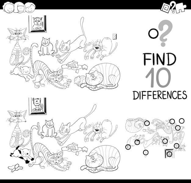 Gra różnic z kotami