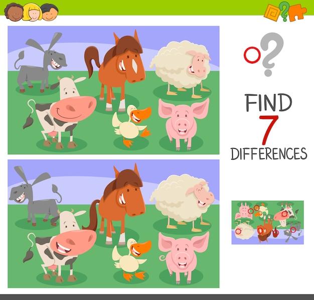 Gra różnicowa z postaciami zwierząt