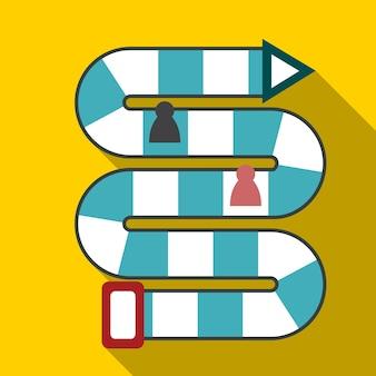 Gra stołowa płaska ikona ilustracja na białym tle wektor symbol znak