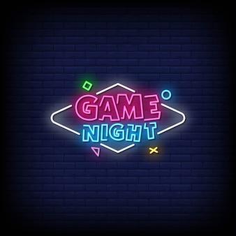 Gra tekst w stylu night neon signs
