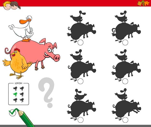 Gra w cienie z hodowlanymi zwierzętami