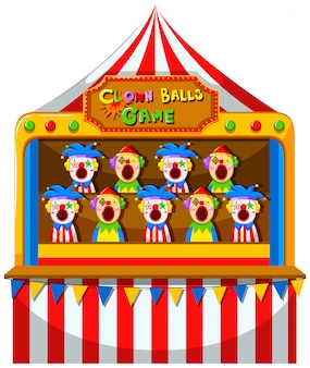 Gra w piłkę clown w cyrku