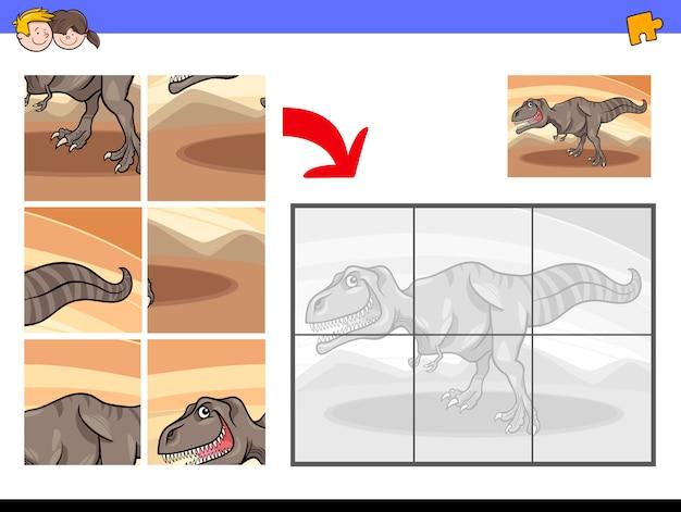 Gra w puzzle z tyranozaurem