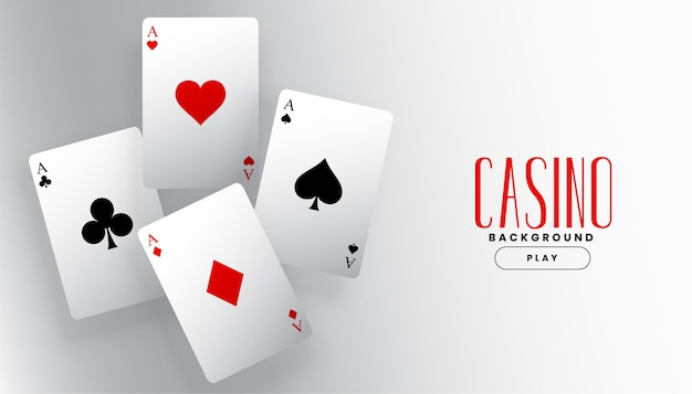 Gra w tle karty asa w kasynie