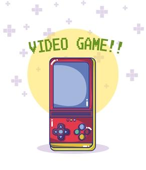 Gra wideo retro konsola wektorowy ilustracyjny graficzny projekt