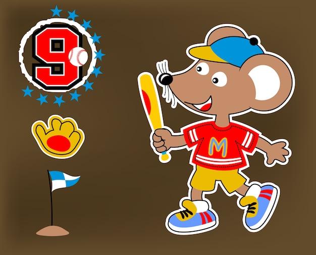 Gracz baseballa kreskówki wektor