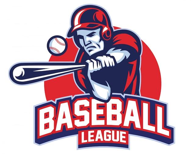 Gracz baseballu w akcji