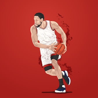 Gracz dryblingu koszykówki