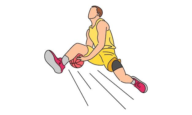 Gracz koszykówki zanurza się