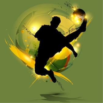 Gracz piłki nożnej pluśnięcie