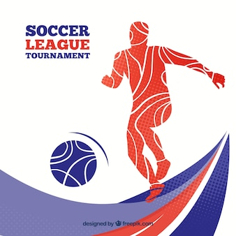Gracz piłki nożnej tło w abstrakta stylu