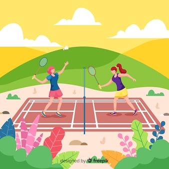 Gracze w badmintona