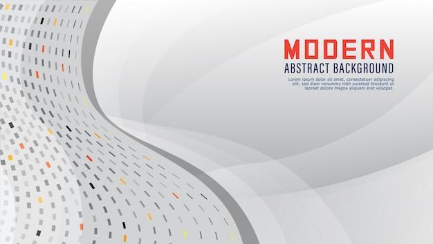 Gradacja biały kolor nowoczesne abstrakcyjne tło - prezentacja - technologia - wektor