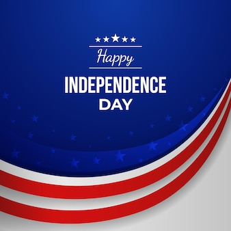 Gradient 4 lipca dzień niepodległości ilustracji