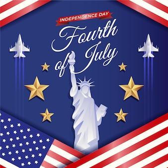 Gradient 4 lipca - ilustracja dzień niepodległości