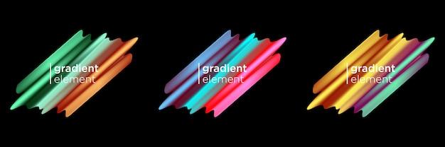Gradient fluid element