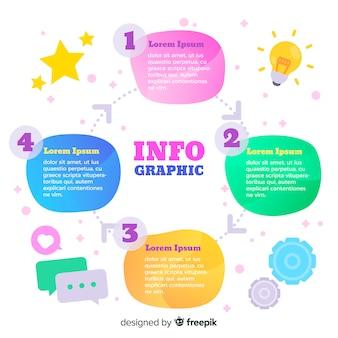 Gradient infographic kroki