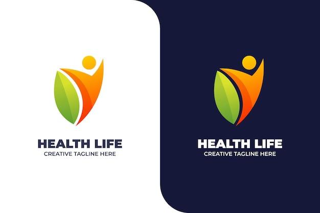 Gradient logo ćwiczenia gimnastyczne ciała