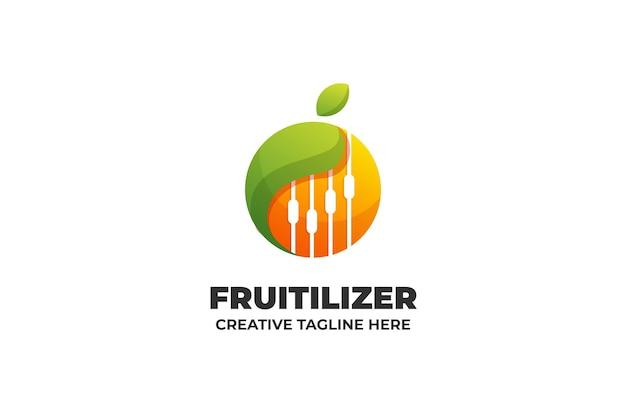 Gradient logo owoców elektryczności