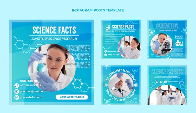 Gradient nauka na instagramie post