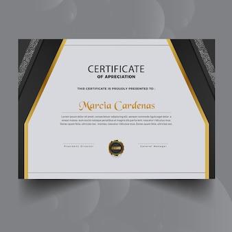 Gradient nowy szablon certyfikatu