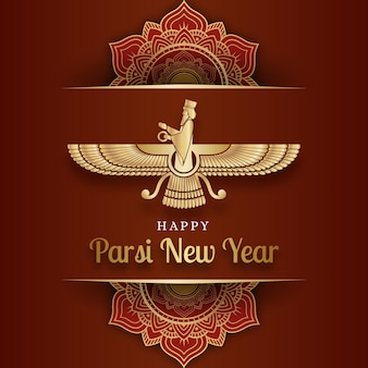 Gradient parsi ilustracja nowego roku