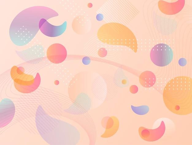 Gradient różowa fala płynne abstrakcyjne tło