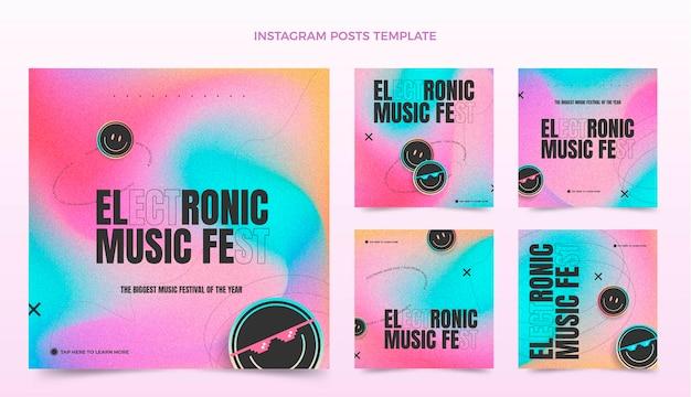 Gradient texture music festival ig posts