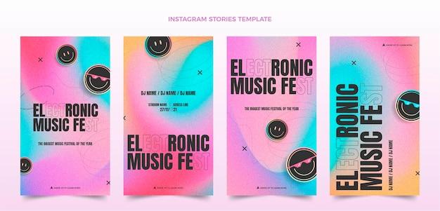 Gradient texture music festival ig stories