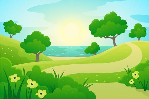Gradient wiosenny krajobraz