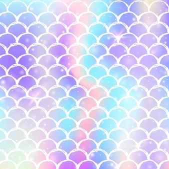 Gradient z holograficznymi skalami. jasne przejścia kolorów.