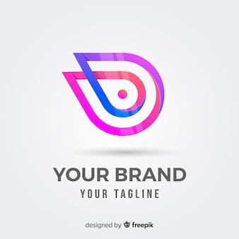 Gradient zaokrąglony streszczenie logotyp firmy
