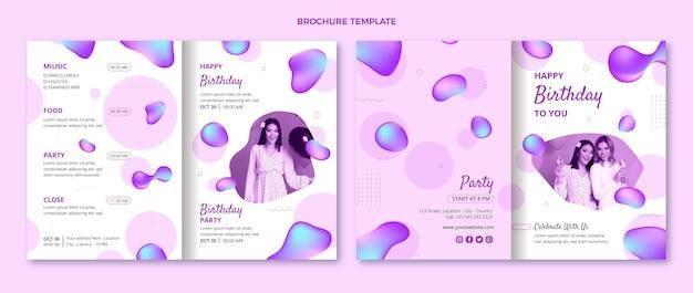 Gradientowa abstrakcyjna broszura urodzinowa w płynie