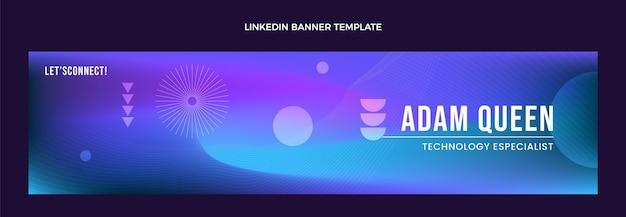 Gradientowa abstrakcyjna technologia płynów linkedin banner