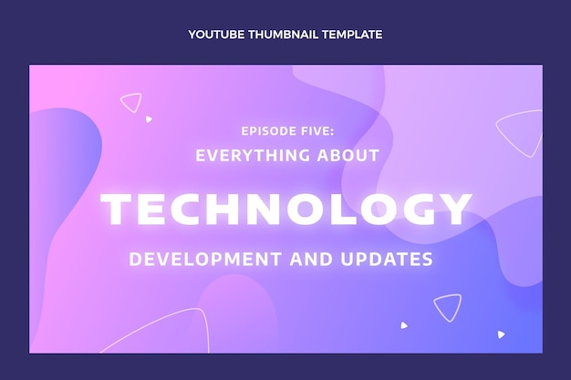 Gradientowa abstrakcyjna technologia płynów miniatura youtube