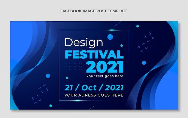 Gradientowa abstrakcyjna technologia płynów na facebooku