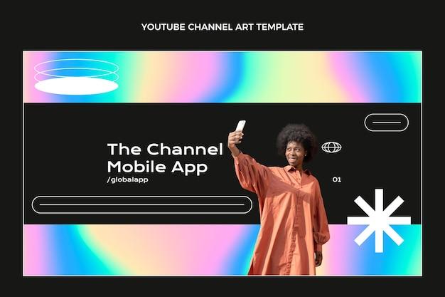 Gradientowa abstrakcyjna technologia płynów na youtube
