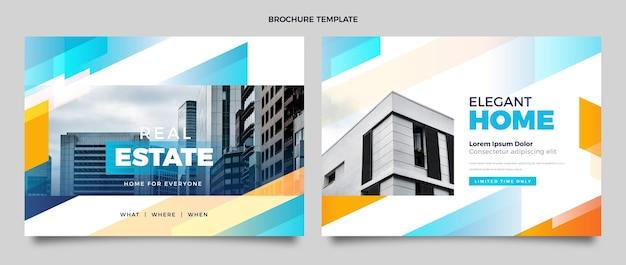 Gradientowa broszura dotycząca nieruchomości