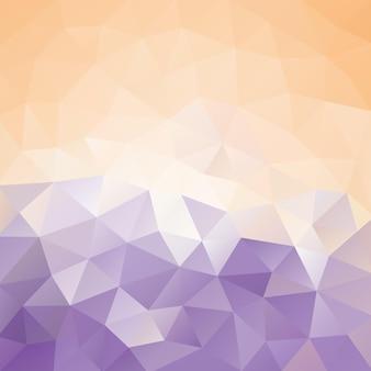 Gradientowa brzoskwinia i purpurowy poligonalny tło