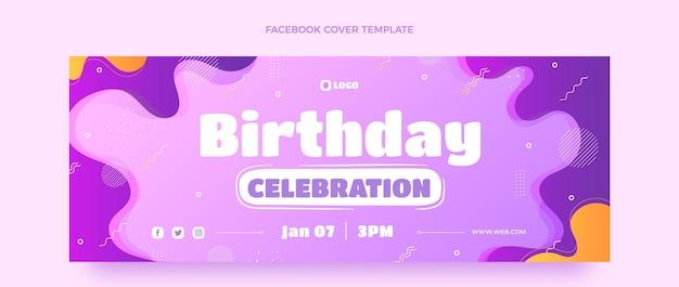 Gradientowa dynamiczna okładka na facebooka urodzinowego