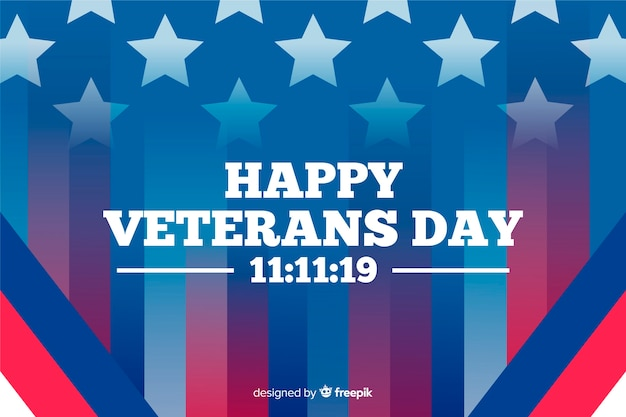 Gradientowa flaga amerykańska i szczęśliwy dzień weteranów